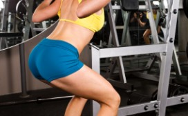 woman squat exercise