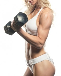 top fat burning foods - Woman dumbbell curl