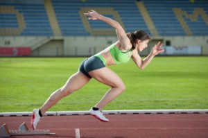 Fat Burning Diet - Woman Sprinting