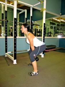 Fat Burning Diet - Kettlebell swings start