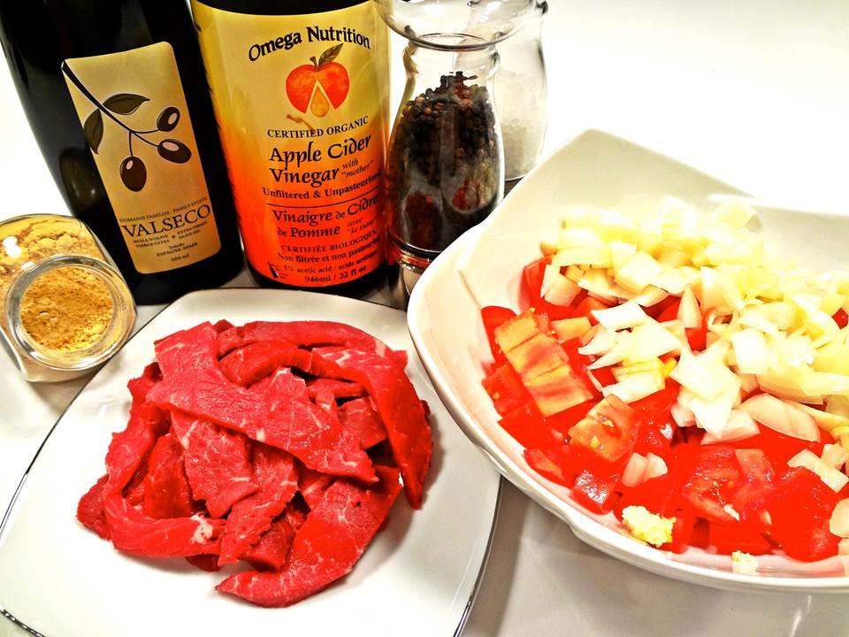 Ginger Beef Ingredients