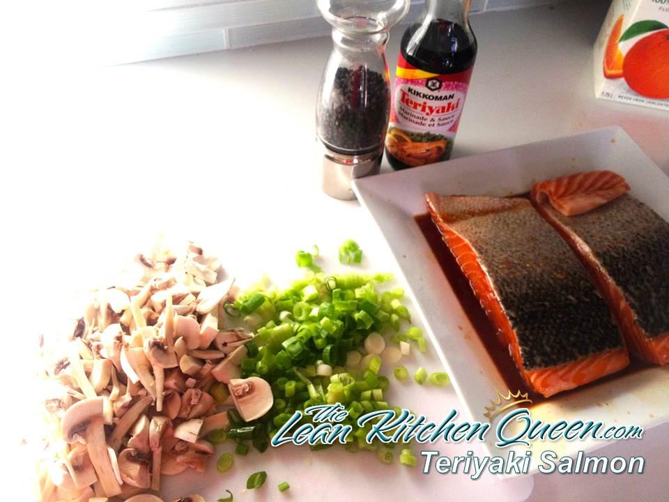 Teriyaki Salmon Prep