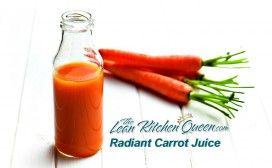 the bottle of carrot juice with carrots