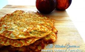 healthy oatmeal pancakes logo