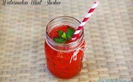 watermelon  mint slushie