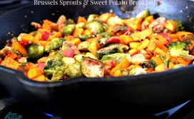 brussels and sweet potato